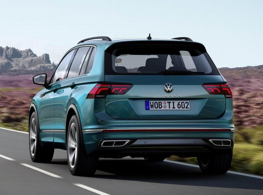 Volkswagen Tiguan 2021 в новом кузове